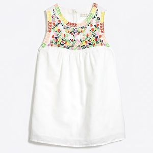 J Crew Factory Embroidered Linen Tank Top